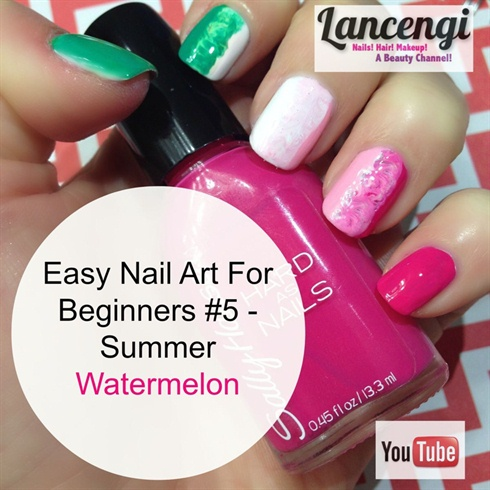 Easy Summer Nails - Watermelon