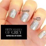 Abstract Elegant Glitter Gradient Mani