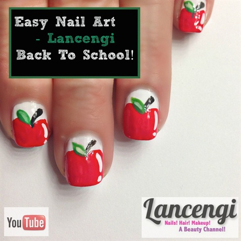 Easy Nail Art - Apple Back To School