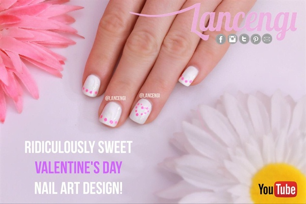 Flirty Pink Heart French Manicure