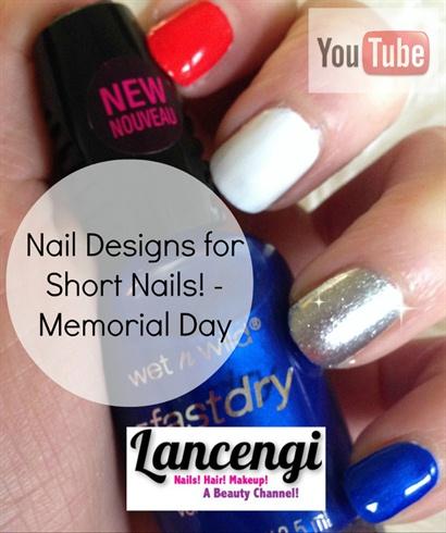 Simple Patriotic Nail Design