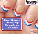 Easy Patriotic  Chevron French Tip