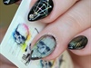Holographic Black Skull Nails