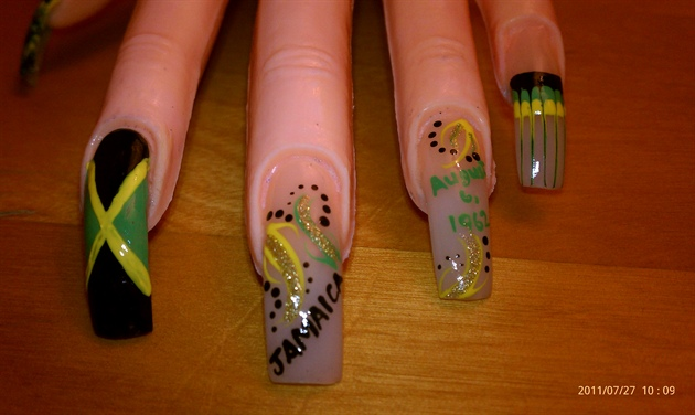 Jamaican Independence Nail Art Gallery
