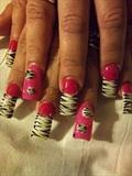 3d hot pink zebra