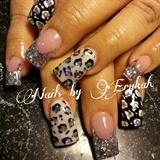 black white silver leopard