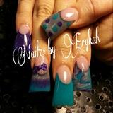 purple-teal Duck feet
