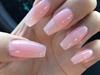 Pink shiny nails