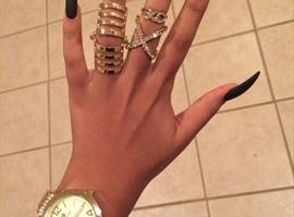 nail art: Gold