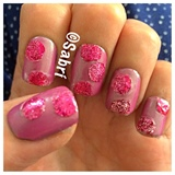 Pink Glitter Dots
