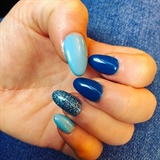 Light & Dark Blue Sparkle