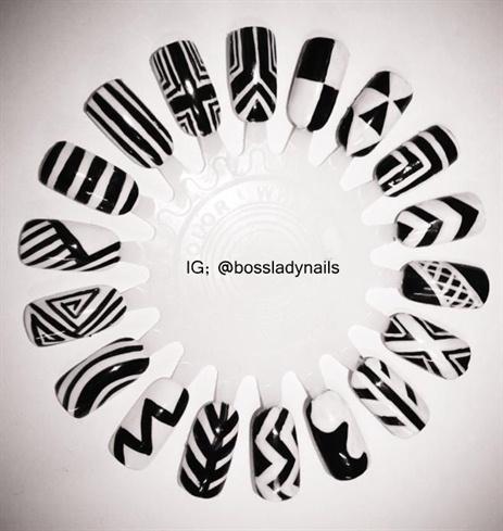 Monochrome Nail Art Gallery