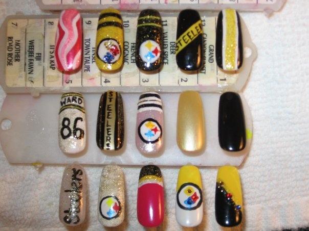 Steelers Nail Art
