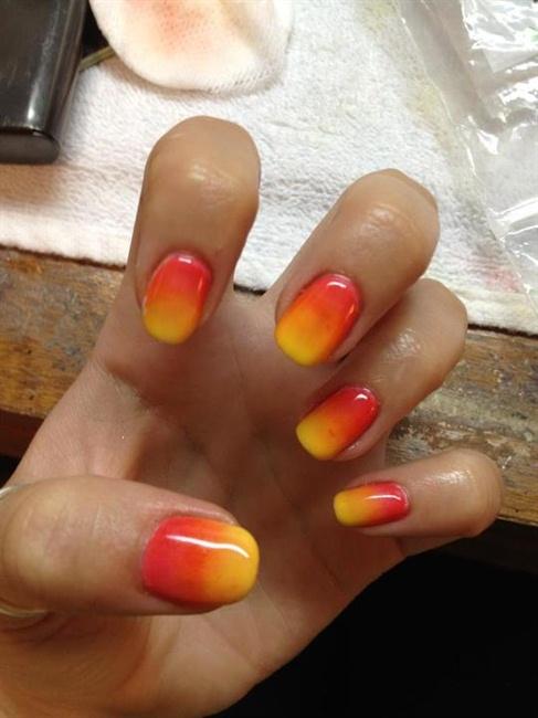 Additive Sunset Fade - Nail Art Gallery