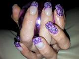 purple and glitters