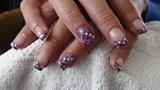 purple gel nails