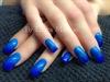 #bluenails#glitters#