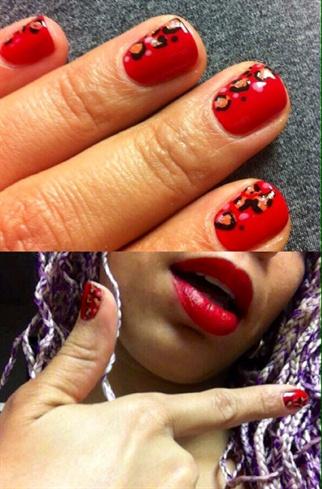 Red Leopard OPI Nails
