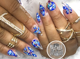 nail art: Denim Camo