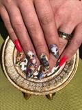 Nails Tattoo With Swarovski CrystalCryst