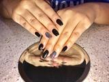 Fall Black Nails