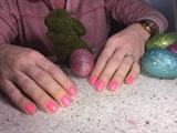 Gel Manicure, Coral Pink