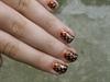 Nail art - Orange VS black (inspired)