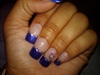 Rhinestone glitter french tip