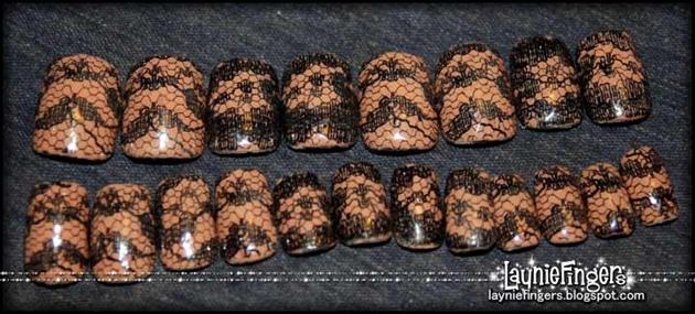 Black Lace Nails 2