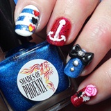 Rockabilly Pin-Up Nail Art Mani