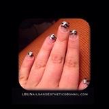 Glitter Zebra Stripes