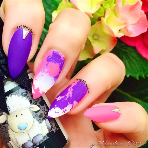 Splatter Effect Nail Stamping