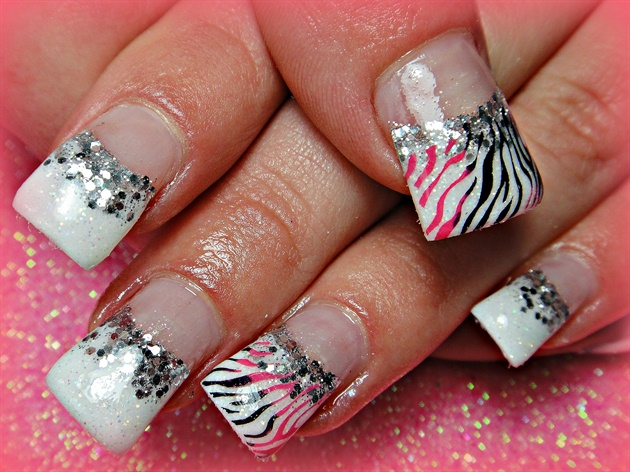 Pink And Black Zebra Nail Art Gallery