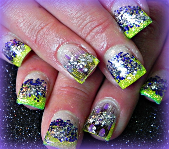 Neon yellow!!! and Purple