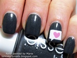 Conversation Bubble with Heart Nail Art