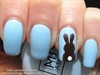 Chocolate Bunny Nail Art