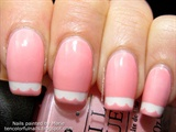 Pink with Lace Nail Art