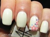 Flower Corner Nail Art