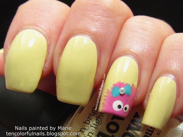 Girly Monster Nail Art