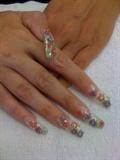 Gel flowered nails