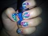 colorful short nails (uñas coloridas)