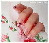Metallic rose Diagonal Tips