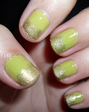 Green with gold gradient