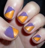 Half n half with purple and orange