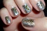 Gold glitter pyramid