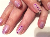 Wedding Nails For A Purple Colour Theme
