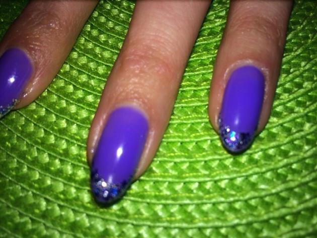 Purple Glitter Tips