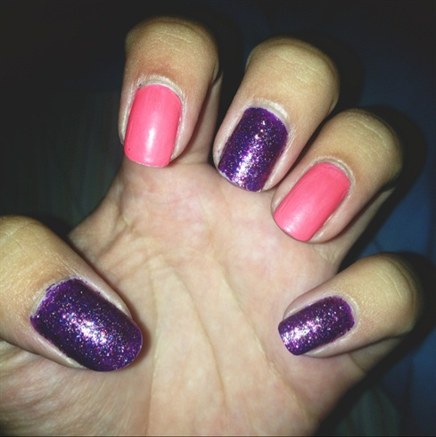 Sparkle And Matte Nails