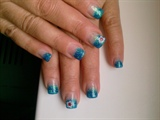 BLue glitters nails