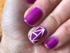 pinki color gelish geomertric nail art